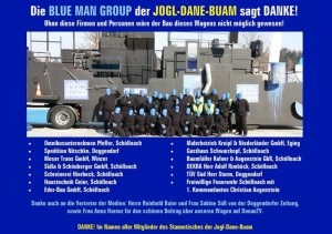 Blue Man Group Danksagung